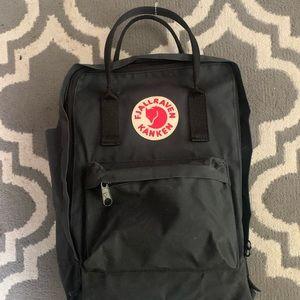 Black Fjallraven Kanken Backpack